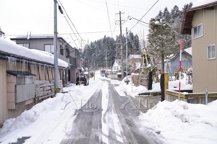 秋田県仙北市 角館雪の住宅街