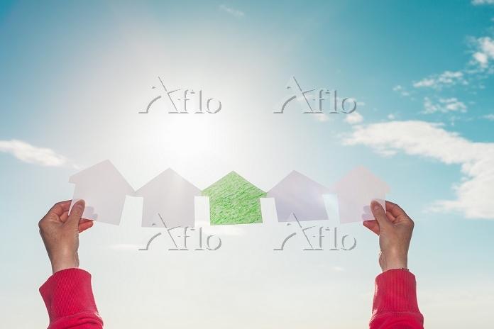 家の形のペーパークラフト