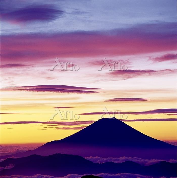静岡県 富士山 南アルプス赤石岳から