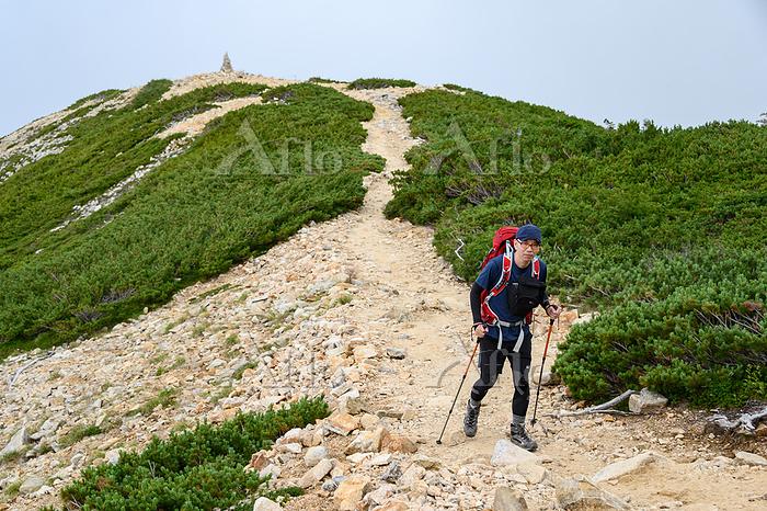 唐松岳を目指す登山者