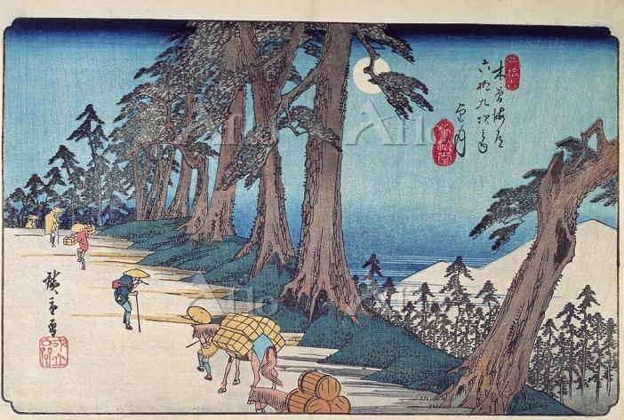 歌川広重 「木曽海道六十九次 望月」