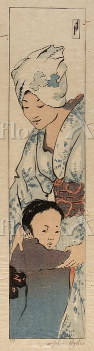 ヘレン・ハイド「母と子」