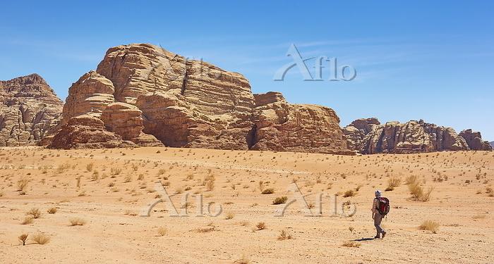Landscape view of Wadi Rum Des・・・