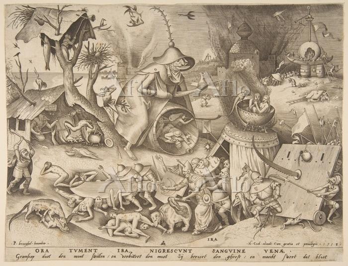 ピーテル・ブリューゲル 1世「7つの罪源-激怒」