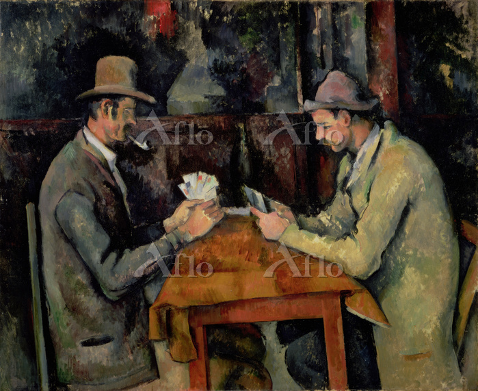 セザンヌ「カード遊びをする人々」