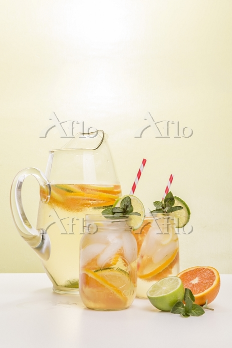 White Wine Sangria in Pitcher ・・・