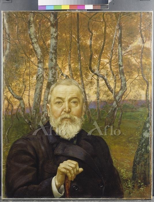 ハンス・トーマ 「白樺の前の自画像」