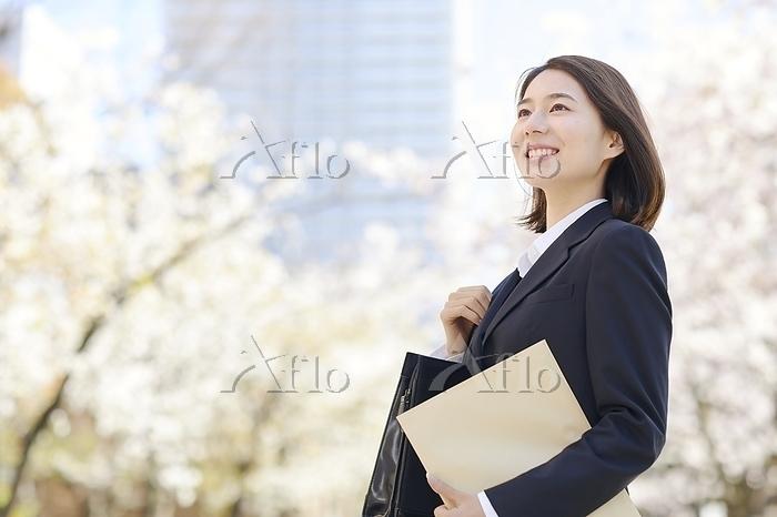 笑顔のビジネスウーマン