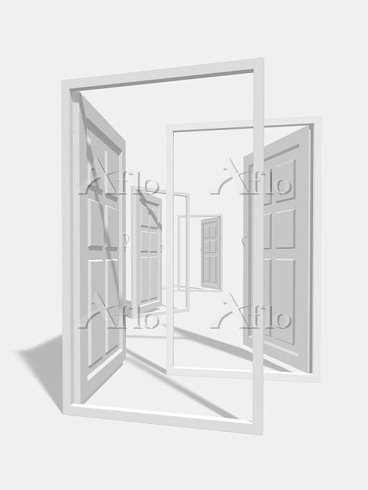 扉のモノクロ