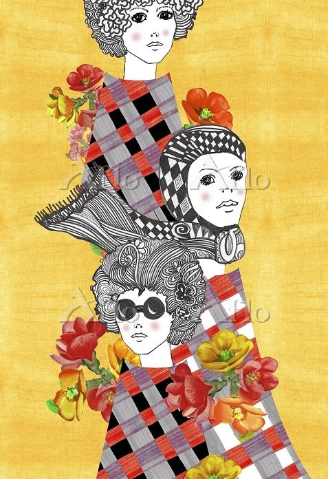 Retro women design by Garreau ・・・