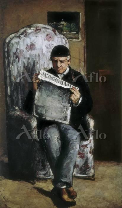 セザンヌ 「ルイ=オーギュスト・セザンヌの肖像(画家の父)」