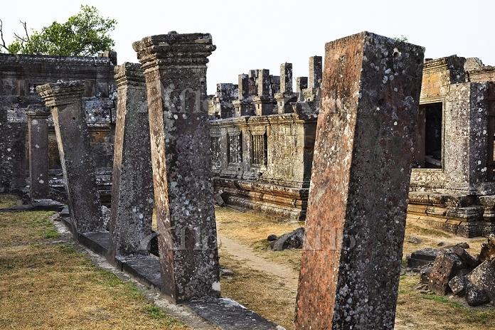 カンボジア プレア・ヴィヘア/第4の塔門内