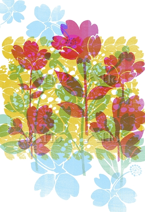 Colorful flower design layered・・・