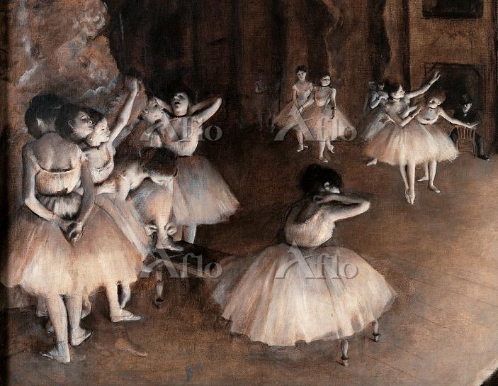 ドガ 「舞台のバレエ稽古」