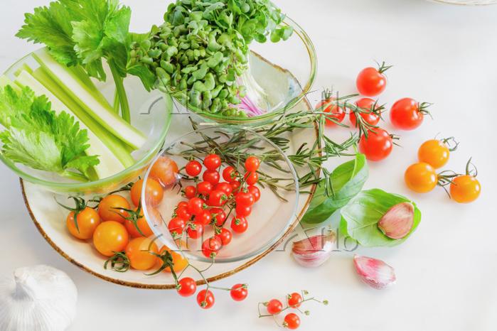 野菜サラダの材料