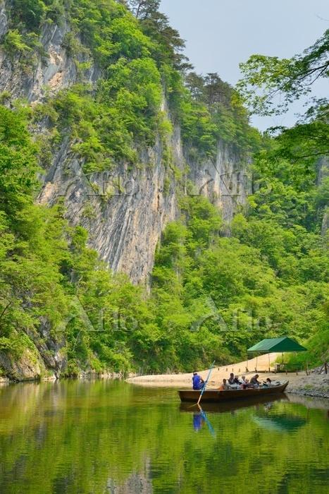 岩手県 猊鼻渓と船
