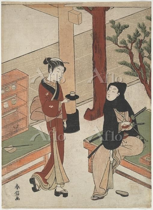 鈴木春信 『お仙茶屋』