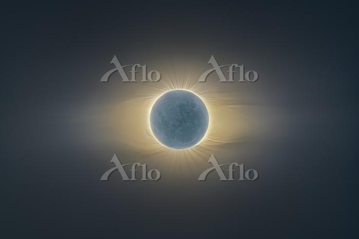 Solar eclipse. The Sun's atmos・・・