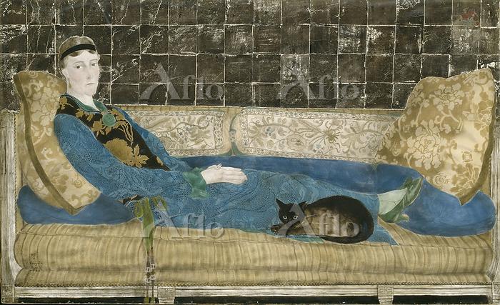 藤田嗣治「エミリー・クレイン=シャドボーンの肖像」