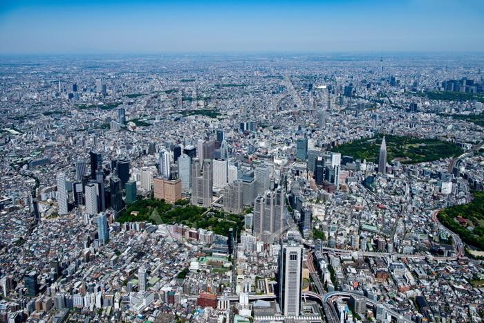 東京の街並み(新宿周辺より)都心