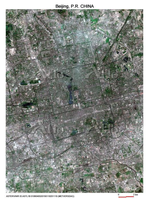 中国 北京 衛星写真