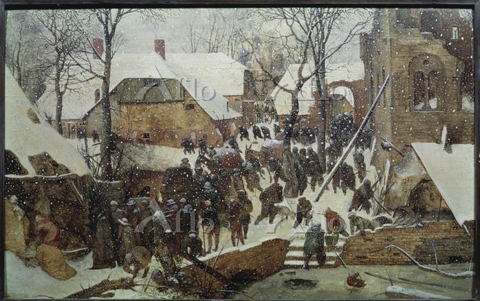ピーテル・ブリューゲル 1世 「雪中の東方三賢王の礼拝」
