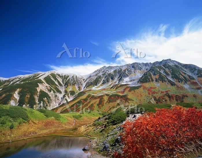 富山県 立山 ミクリガ池と立山 立山アルペンルート