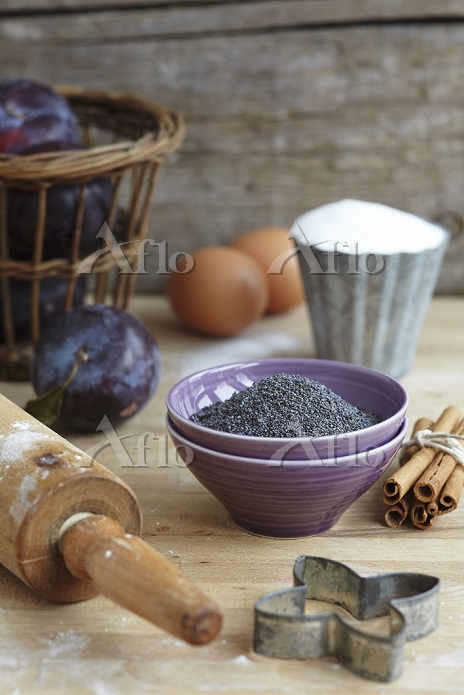 Ingredients for poppy seed bis・・・