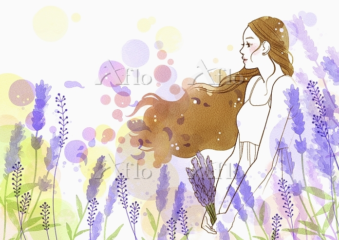 Young woman with long hair in ・・・