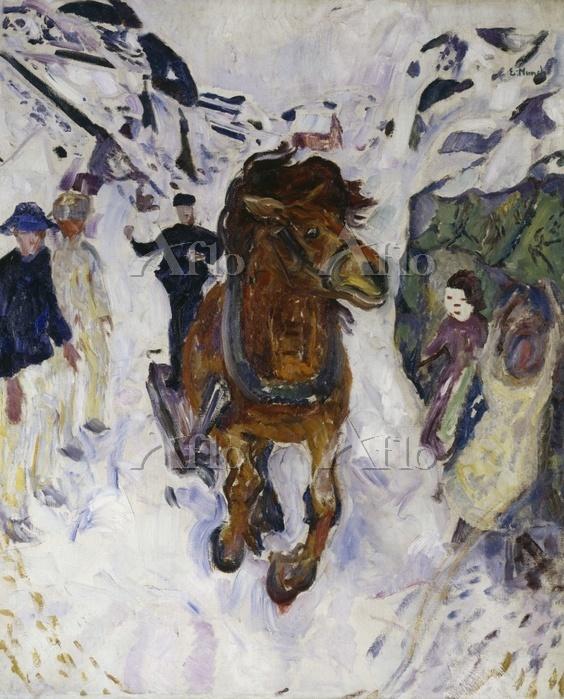 ムンク「疾駆する馬」