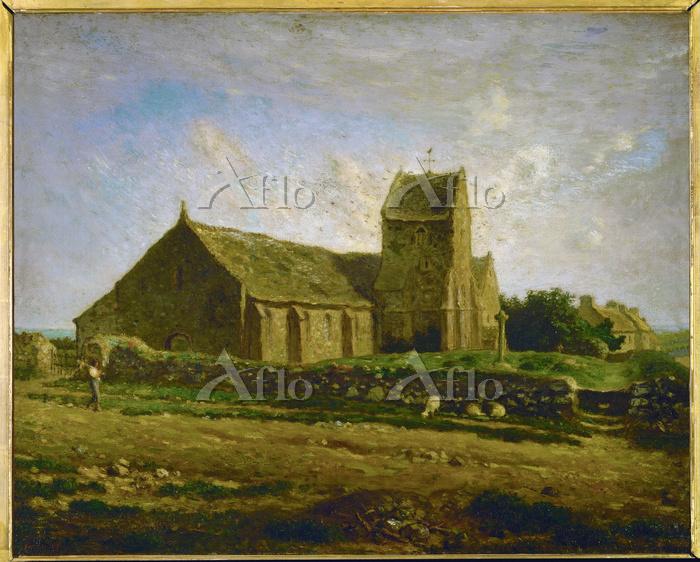 ミレー 「グレヴィルの教会」