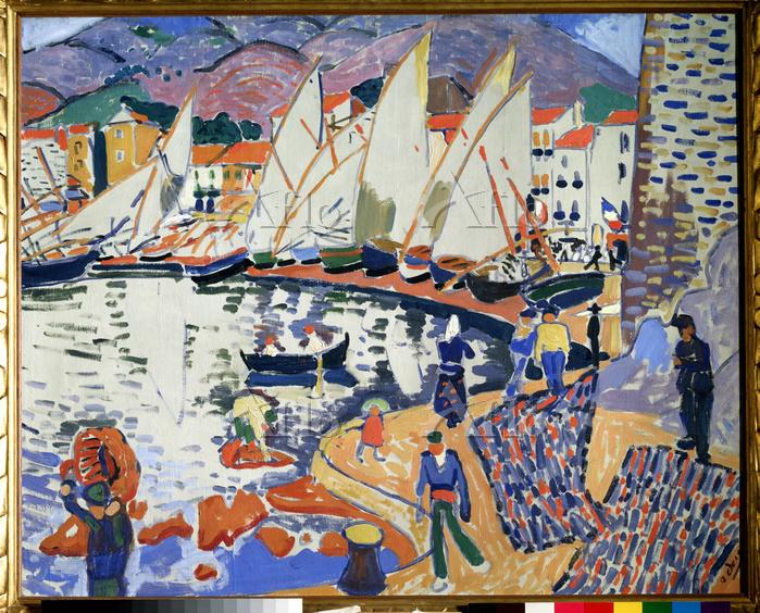 アンドレ・ドラン 「港に並ぶヨット」