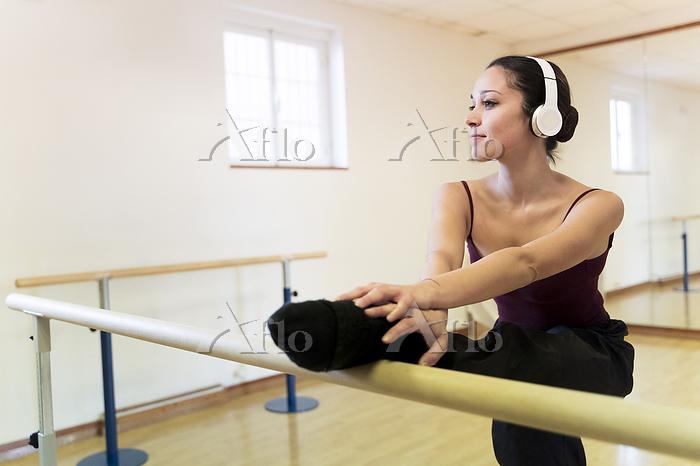 Ballet dancer with headphones ・・・