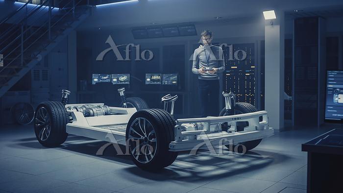 Automobile engineer working on・・・