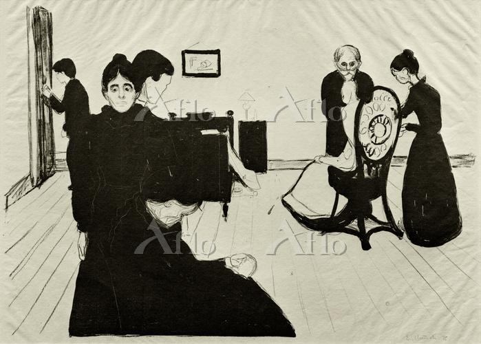 エドヴァルド・ムンク「病室での死」
