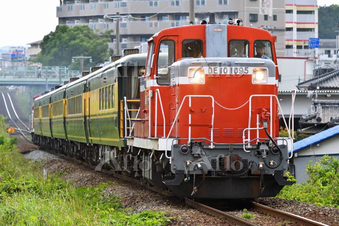 高知県 土讃線 DE10牽引サロンカー「土佐路」(回送)