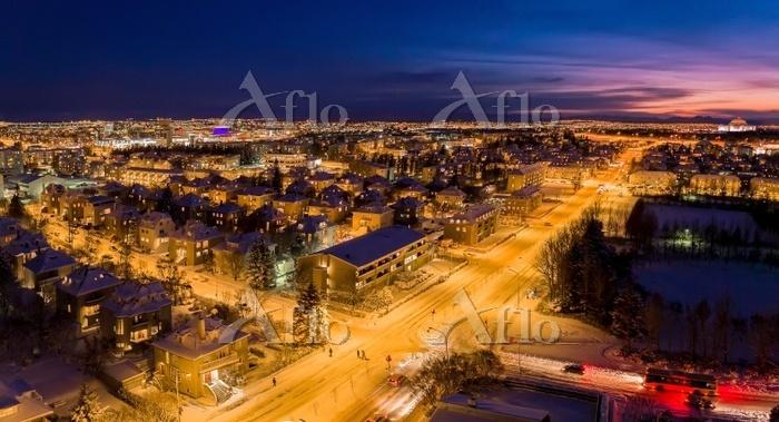 アイスランド レイキャヴィークの街並み