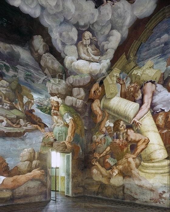 ジュリオ・ロマーノ 「神々と巨人族の戦い」(巨人族の間)(部・・・