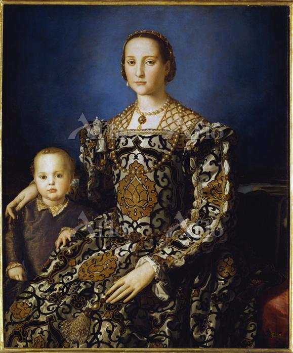 ブロンズィーノ 「エレオノーラ・ディ・トレドと息子の肖像」