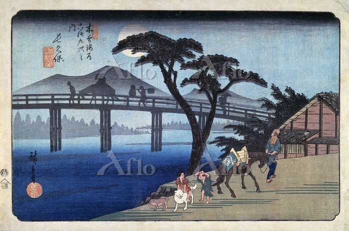 歌川広重 「木曽海道六十九次 長久保」