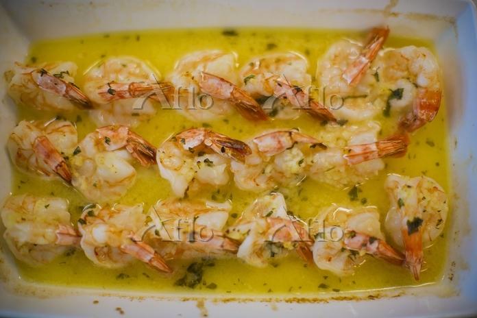 Prawns in garlic butter fresh ・・・