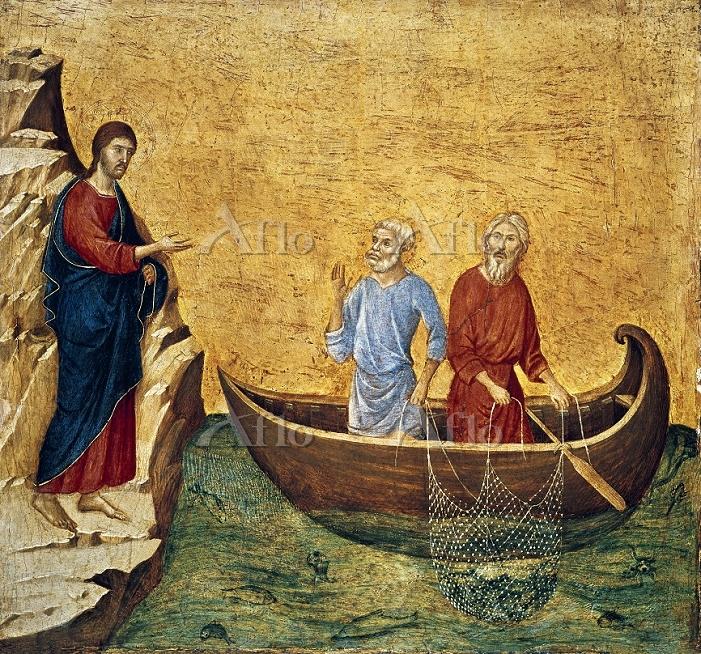 ドゥッチョ 「ペテロとアンデレの召命」