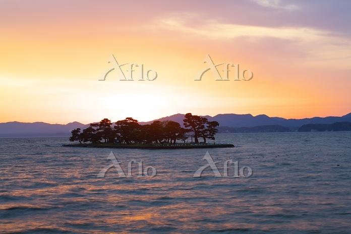 島根県 宍道湖の夕景