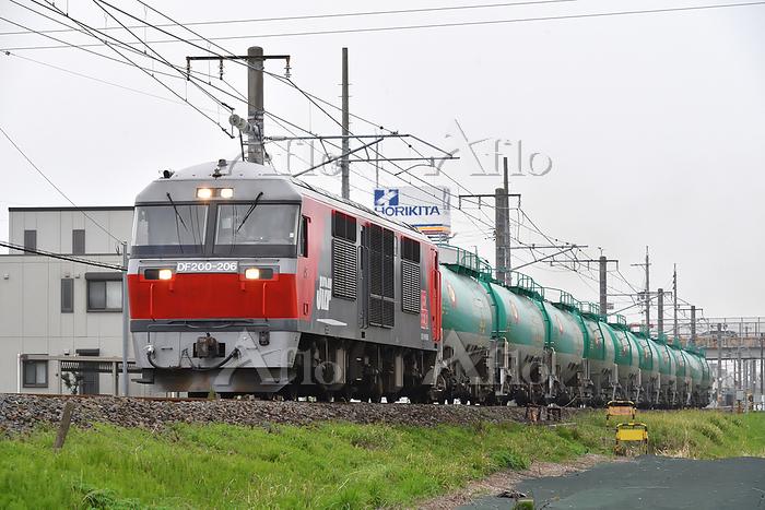 愛知県 関西本線 DF200牽引貨物列車