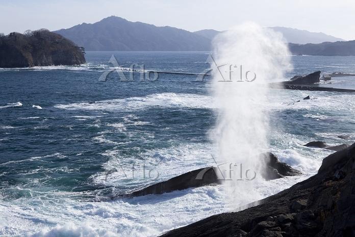 岩手県 陸中海岸 潮吹穴