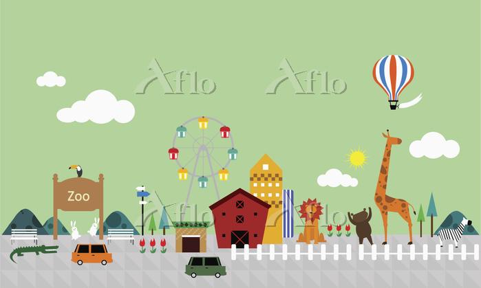 動物園 a city scene related to zo・・・
