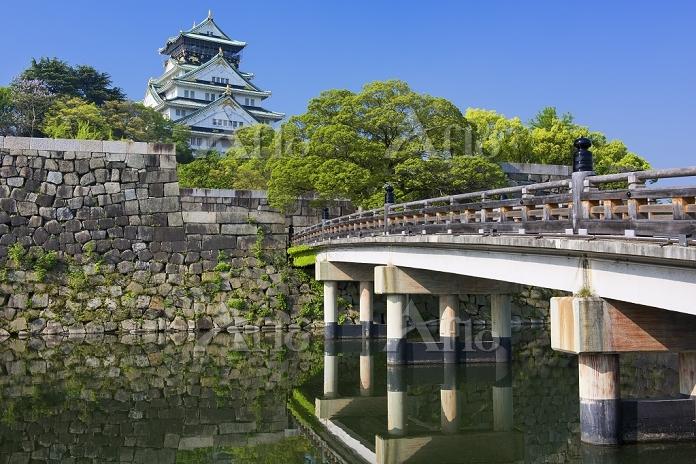 大阪府 極楽橋と大阪城天守閣