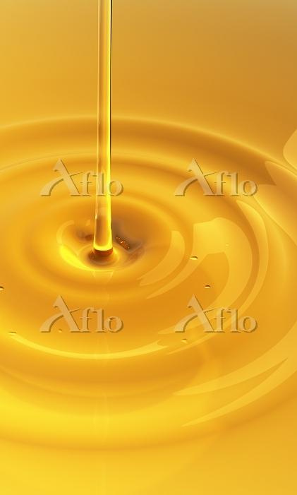 オレンジ色の液体 CG