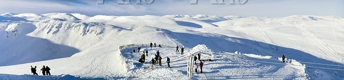 Cairnwell Ski Centre. Skiers o・・・