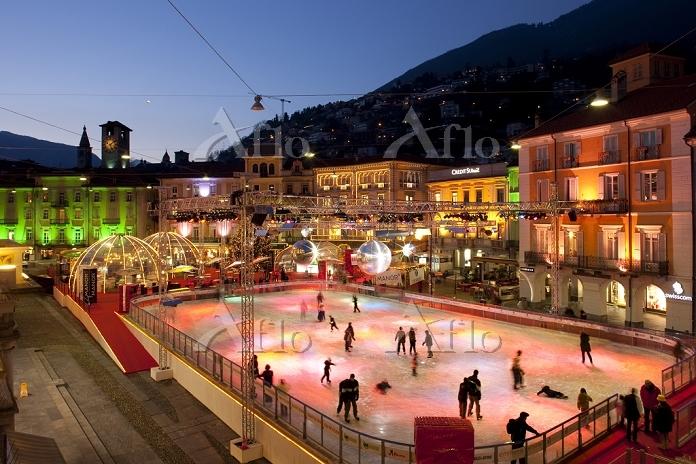 スイス ロカルノ アイススケート場